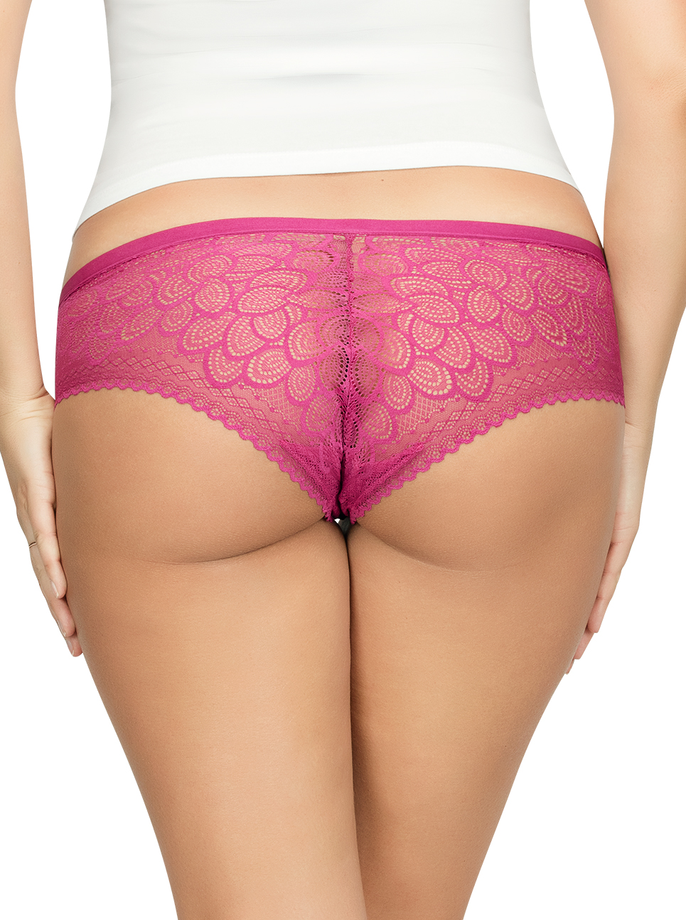 PARFAIT ParfaitPanty SoGlam HipsterPP502 Raspberry Back - Parfait Panty So Glam Hipster - Raspberry - PP502