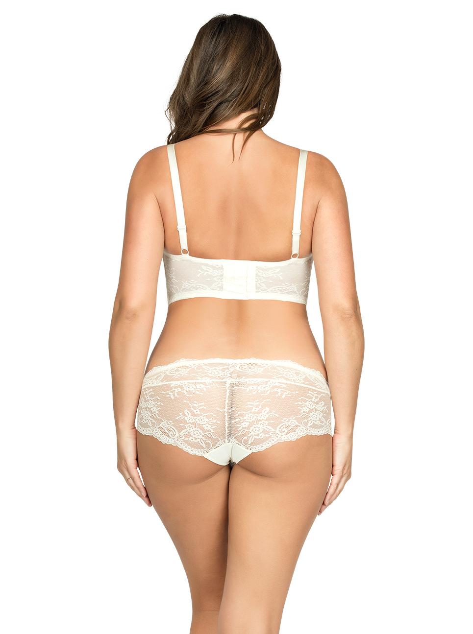 PARFAIT Sandrine PlungeLonglineBraP5351 HipsterP5355 Ivory Back - Sandrine Plunge Longline Bra - Ivory - P5351