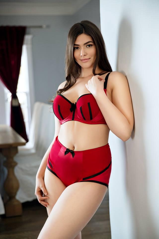 red lingerie set