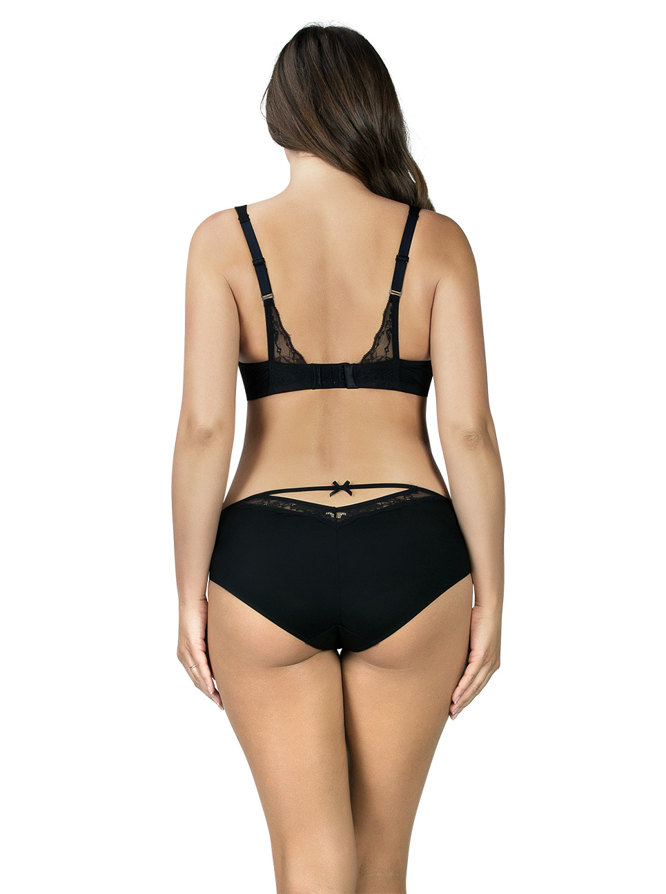 PARFAIT Aubrey PaddedBra P5761 Bikini P5763 Black Back - Aubrey Padded Bra Black P5761