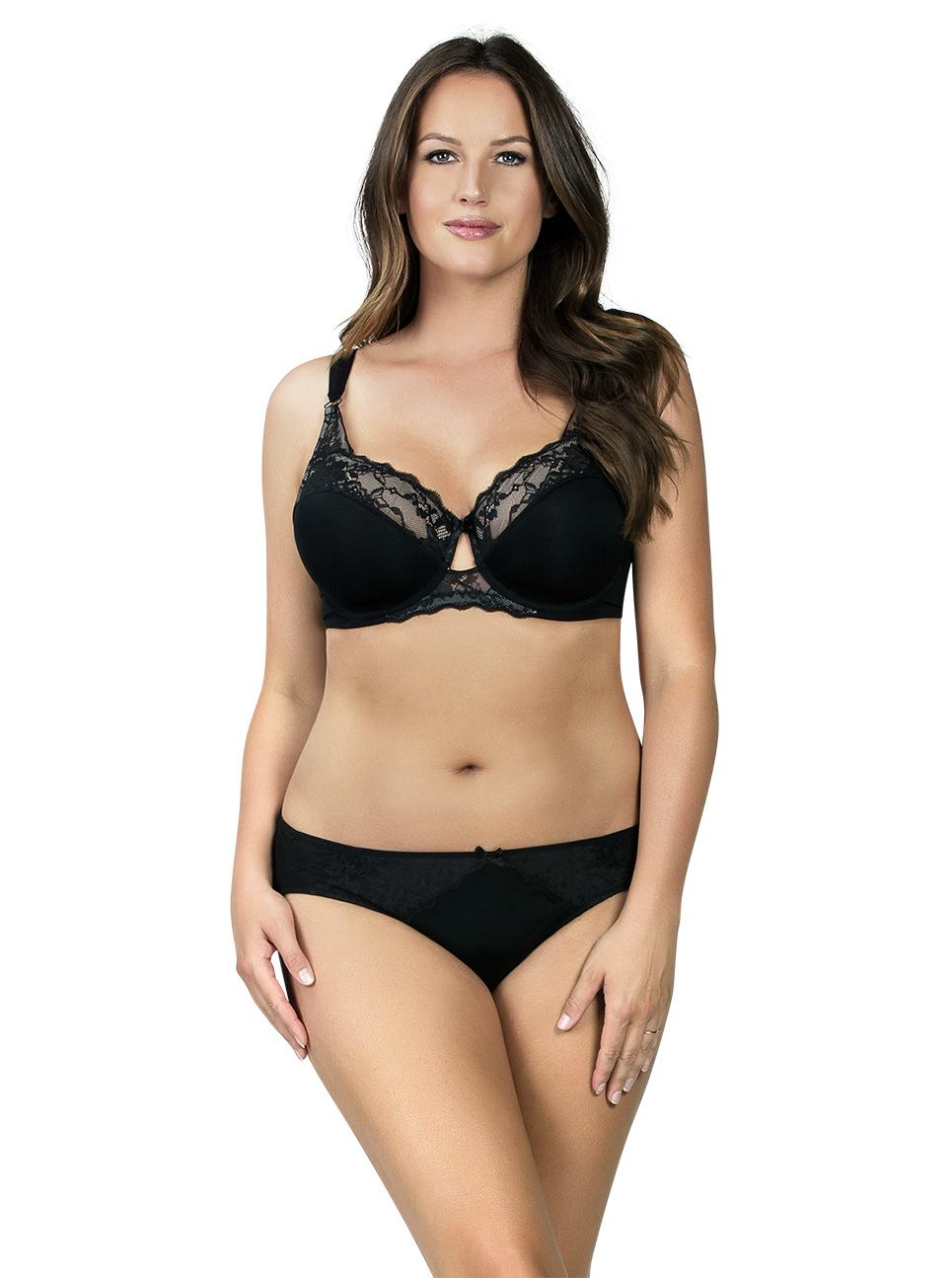 PARFAIT Aubrey PaddedBra P5761 Bikini P5763 Black Front - Aubrey Bikini Black P5763