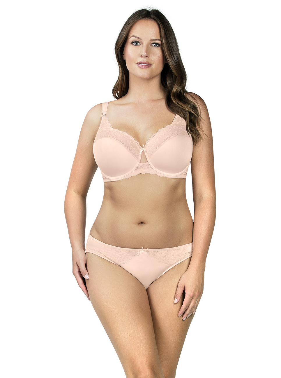 PARFAIT Aubrey PaddedBra P5761 Bikini P5763 Porcelain Front - Aubrey Bikini Porcelain P5763