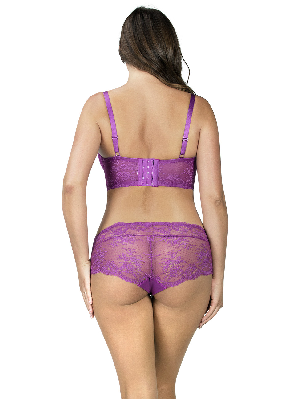 PARFAIT Sandrine PlungeLonglineBraP5351 HipsterP5355 Orchid Back - Sandrine Hipster Orchid P5355