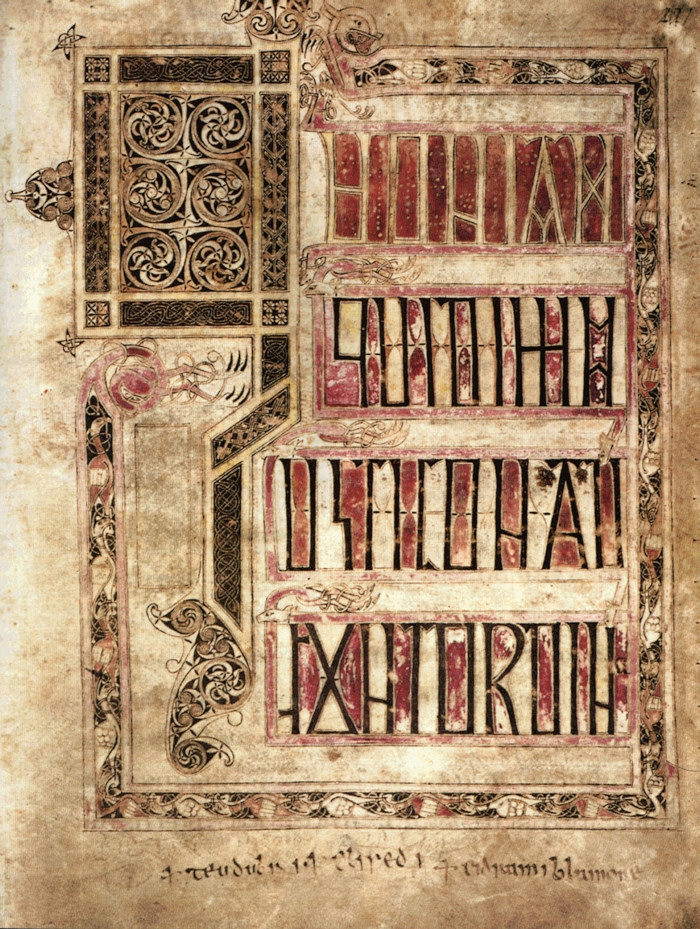Illuminated Page from the Llandeilo Fawr Gospels