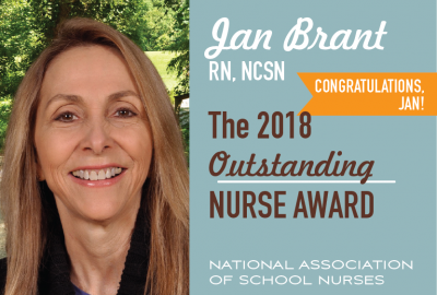 Featured News: Park's Nurse Jan Brant Receives the 2018 Outstanding Private/Parochial School Nurse Award