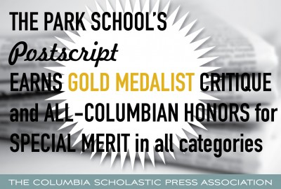 Featured News: Postscript Awarded Gold Medalist Critique and All-Columbian Honors