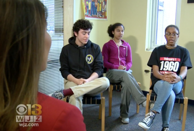 News: Park Students Speak with CBS Baltimore about Recent Civil Rights Trip