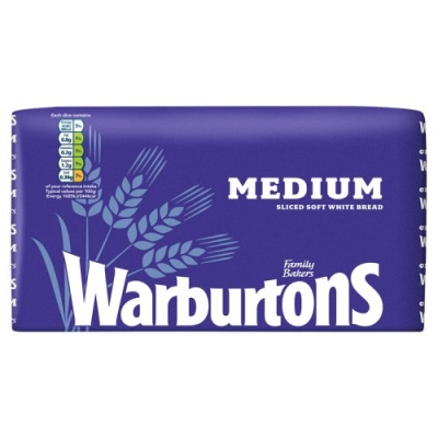 warburtons sliced bread