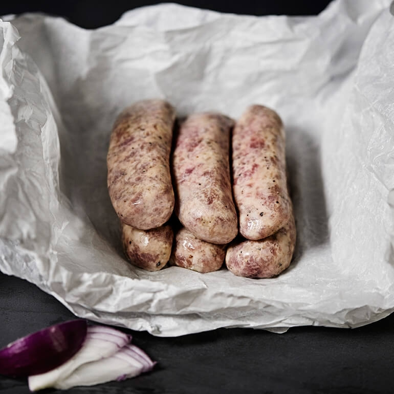 Gluten Free Cracked Black Pepper Sausages