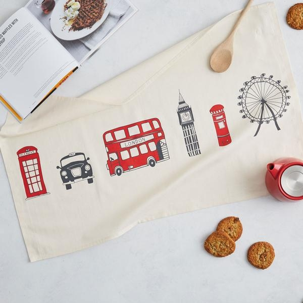 London Skyline Tea Towel