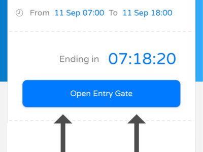 Click this button to open the gate when entering and exiting