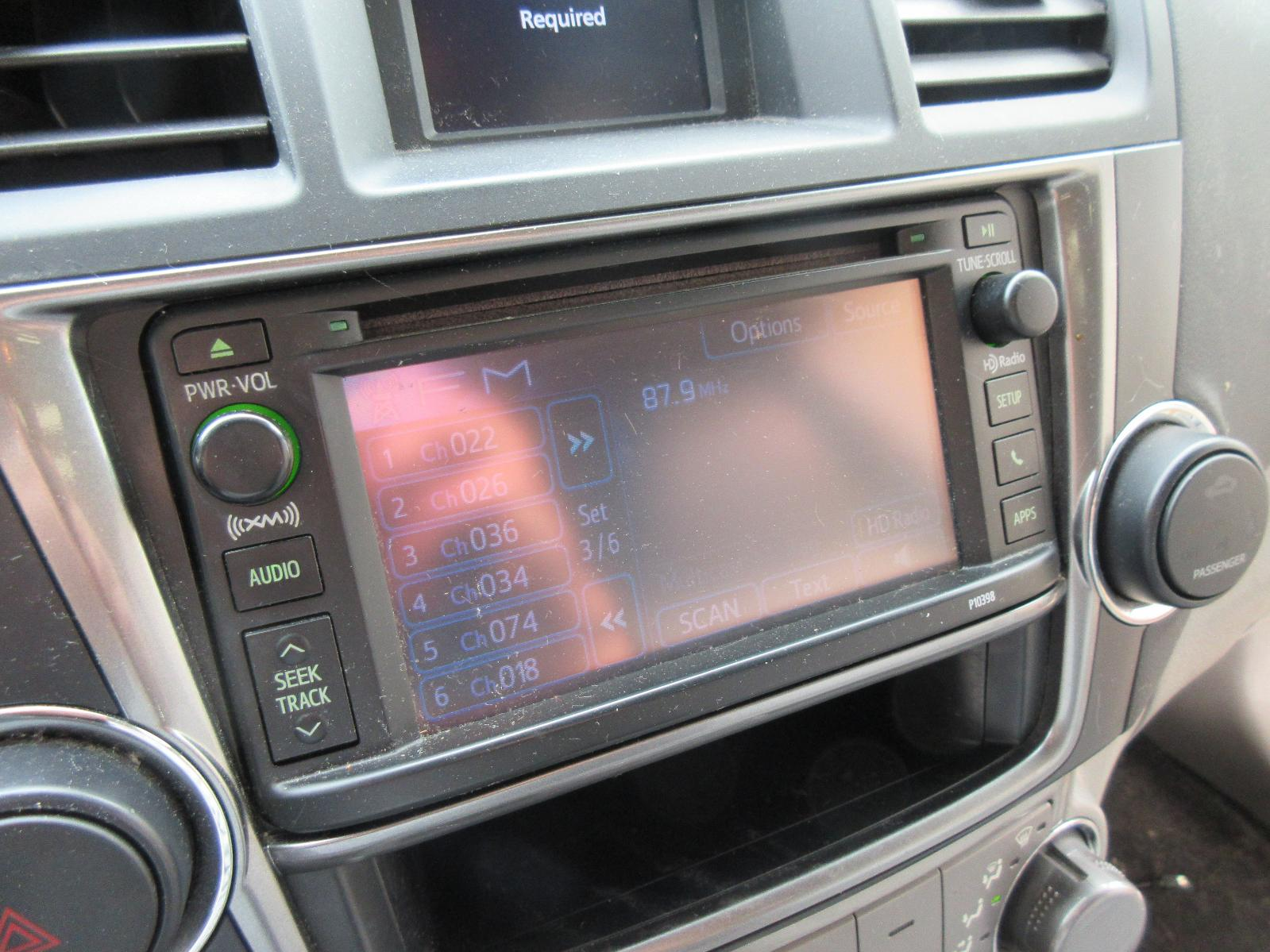 Used Audio Visual System  Radio  For Sale For A 2013 Toyota Highlander