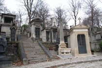 Père Lachaise Cemetery - Landmark in Paris.
