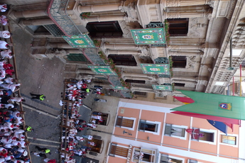 Plaza del Ayuntamiento in Pamplona: The Running of the Bulls.