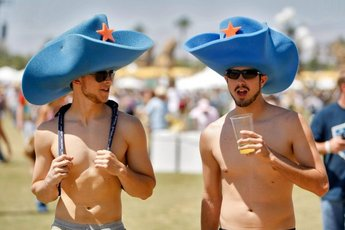 Bros of all kinds enjoy Stagecoach Country Music Festival in Indio, CA.