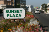 Sunset Plaza - Shopping Area in LA