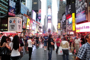 Times Square - Culture | Landmark | Nightlife Area | Outdoor Activity | Shopping Area | Square in New York.