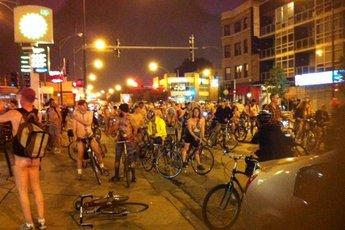 Chicago world naked bike ride