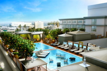Altitude Pool at the SLS Beverly Hills - Pool Bar | Lounge in Los Angeles.