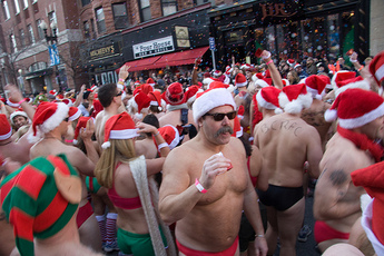 Santa Speedo Run in Boston