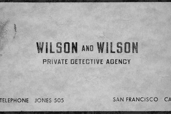 Wilson and Wilson Private Detective Agency - Cocktail Bar | Lounge | Speakeasy in San Francisco.