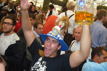 Partying at Oktoberfest in Munich!