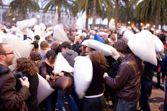 International Pillow Fight Day: Amsterdam - Special Event in Amsterdam.