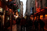 Rue de la Huchette - Nightlife Area in Paris