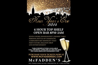 New Year's Eve 2014 at McFadden's DC Party / Holiday Event ...