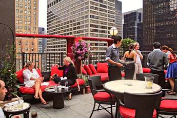 Upstairs at The Kimberly - Hotel Bar | Rooftop Lounge in New York.