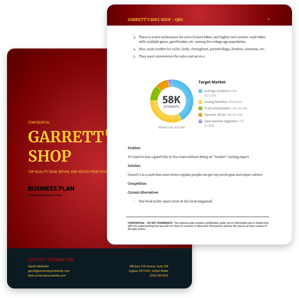 Garrett sample plan