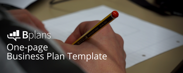 One-page Business Plan Template Header