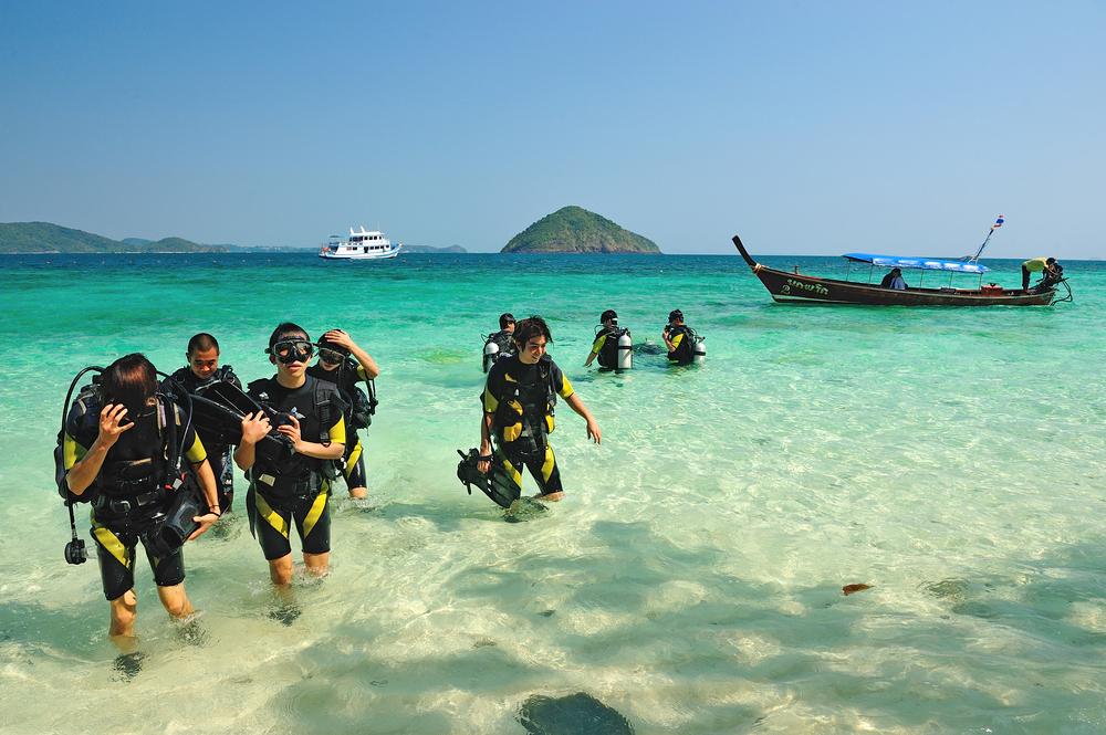 scuba diving tour business