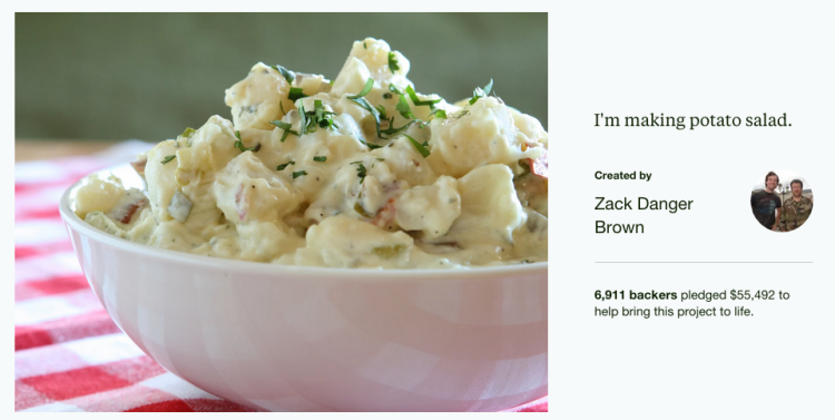 With a $55,492 price tag, this must be the best potato salad in the world.