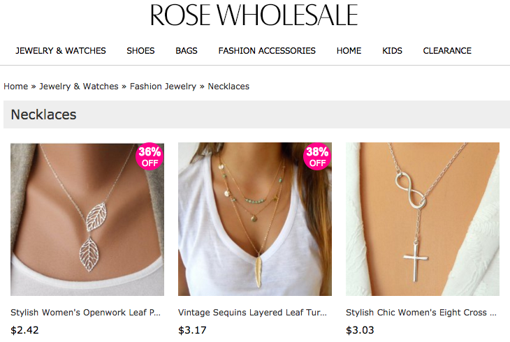 Rose Wholesale example