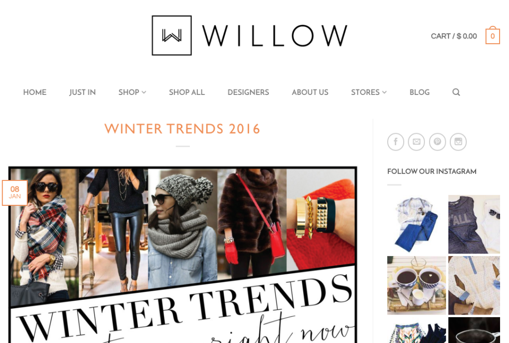 Willow blog example