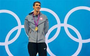 Michael Phelps winning