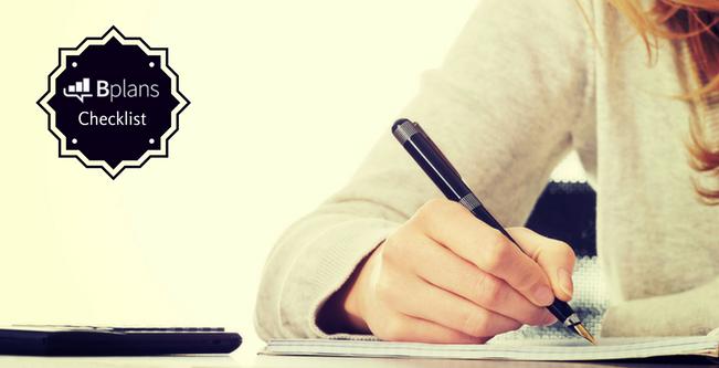 Bplans Business Planning Checklist