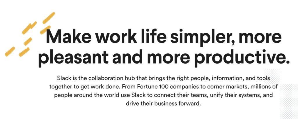 """Make work-life simpler, more pleasant and more productive."""