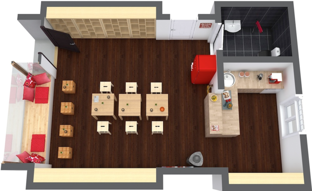 Coffee shop floor plan example