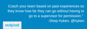 image of Shep Hyken's customer satisfaction quote on learning from the past