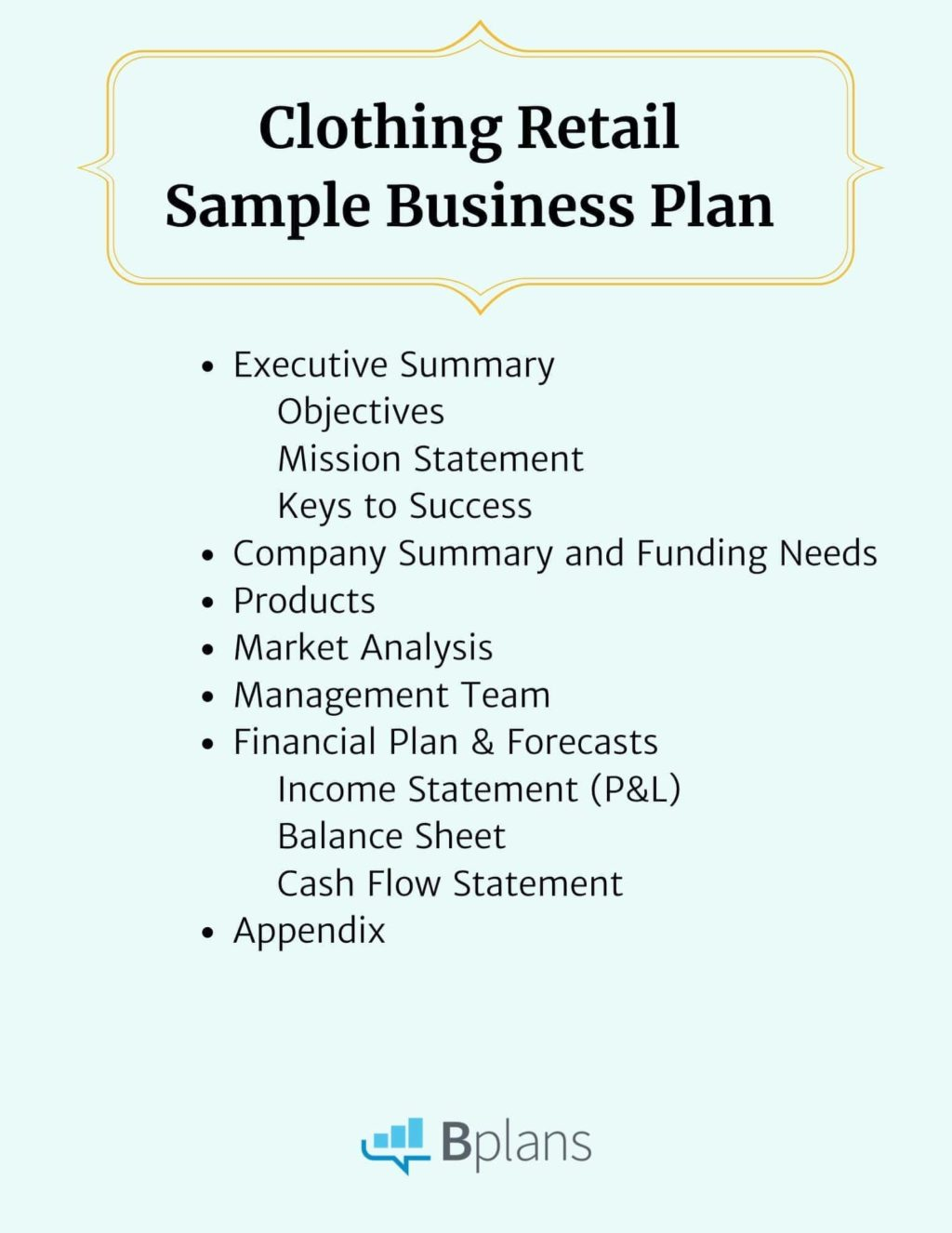 clothing retail sample business plan