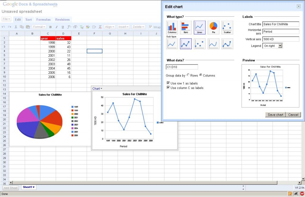 Google Spreadsheets is a free version of Microsoft Excel