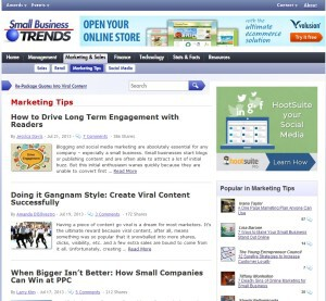 small business trends marketing blog