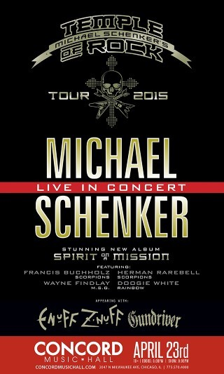 Michael Schenker Group / Temple Of Rock poster