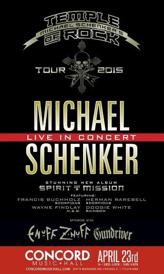 Michael Schenker Group / Temple Of Rock poster