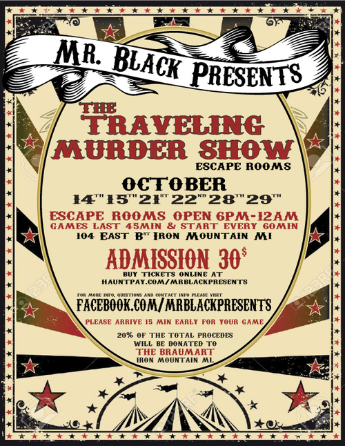 The Traveling Murder Show Escape Rooms poster