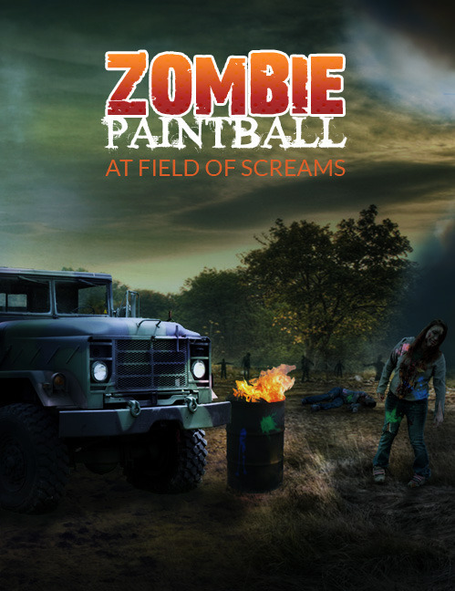 Zombie Paint Ball Attraction 2016 poster