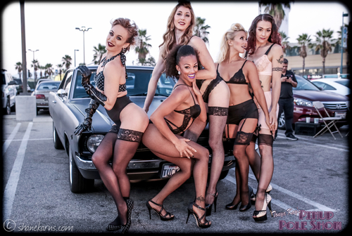 May 13th, Pinup Pole Show and classic car cruise-in, North Hollywood image