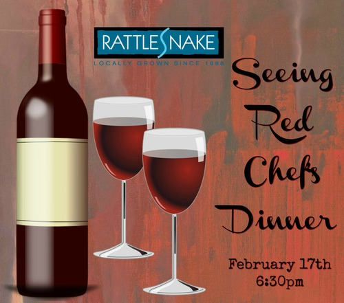 """Seeing Red"" Chef's Dinner poster"